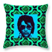 Elvis Presley Window P128 Throw Pillow
