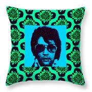 Elvis Presley Window P128 Throw Pillow