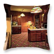 Elvis Presley's Kitchen Throw Pillow