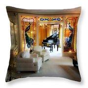 Elvis Presley's Living Room Throw Pillow