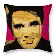 Elvis Singing The Blues Throw Pillow