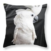 Elvis The Cockatoo II The Profile Shot Throw Pillow