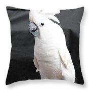 Elvis The Cockatoo Throw Pillow