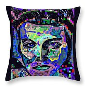 Elvis The King Abstract Throw Pillow