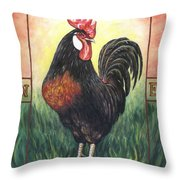 Elvis The Rooster Throw Pillow