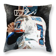 Elway Throw Pillow by Don Medina