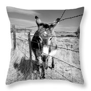 Elwood In Montana Throw Pillow