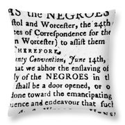 Emancipation Notice, 1775 Throw Pillow