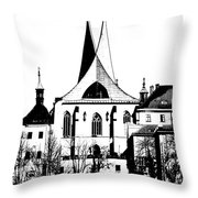 Emauzy - Benedictine Monastery Throw Pillow by Michal Boubin