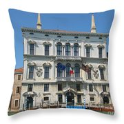 Embassy Building Venice Italy Throw Pillow