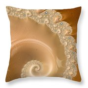 Embellished Blond Wood Throw Pillow