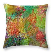 Embellished Flowers Throw Pillow