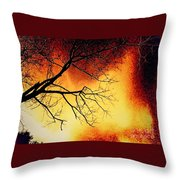 Ember Bough Throw Pillow