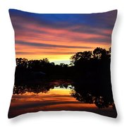 Embers Of The Day Throw Pillow