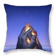 Embers Turn To Stars Throw Pillow by Jerry LoFaro