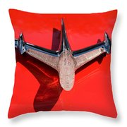 Emblem On Red Throw Pillow