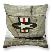 Emblem Underneath Throw Pillow