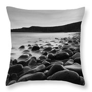 Embleton Bay With Dunstanburgh Castle Throw Pillow