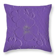 Embossed Bouquet  Throw Pillow