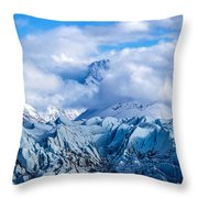 Embraced By Clouds Throw Pillow