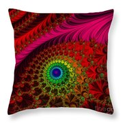 Embroidered Silk And Beaded Square Throw Pillow