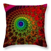 Embroidered Silk And Beads - Horizontal Throw Pillow