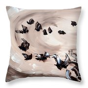 Embruns Throw Pillow by Isabelle Vobmann