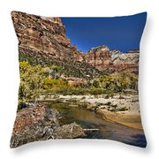 Emeral Pools Trail - Zion Throw Pillow
