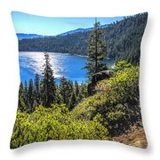 Emerald Bay Lake Tahoe California Throw Pillow