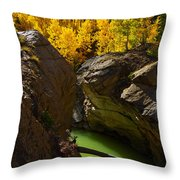 Emerald Canyon Throw Pillow
