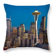Emerald City Evening Throw Pillow