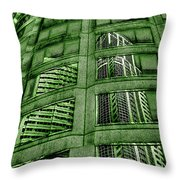 Emerald City Reflections - Seattle Washington Throw Pillow