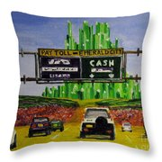 Emerald City Toll Plaza Throw Pillow