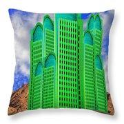 Emerald Desert Palm Springs Throw Pillow