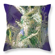 Emerald Elemental Throw Pillow