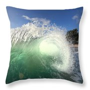 Emerald Flare Throw Pillow