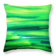 Emerald Flow Abstract I Throw Pillow