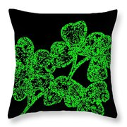 Emerald Isle Shamrocks  Throw Pillow