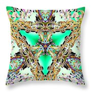 Emerald Key Throw Pillow