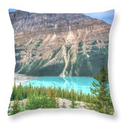 Peyto Lake 7 Throw Pillow