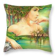 Emerald Lake Throw Pillow