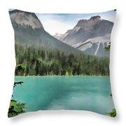Emerald Lake Throw Pillow by Rich Stedman