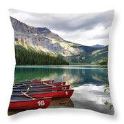 Emerald Lake Yoho National Park Throw Pillow