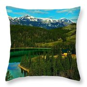 Emerald Lake - Yukon Throw Pillow