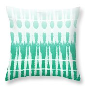 Emerald Ombre  Throw Pillow by Linda Woods
