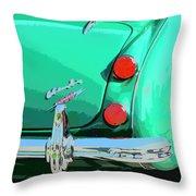 Emerald Palm Springs Throw Pillow