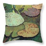 Emerald Pond Throw Pillow