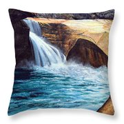 Emerald Pool Throw Pillow