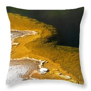 Emerald Pool Yellowstone National Park Throw Pillow