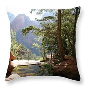 Emerald Pool - Zion Np Throw Pillow
